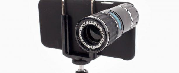 smartphone camera lens on iPhone