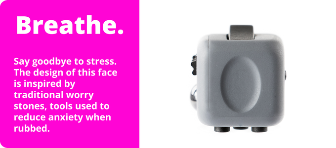 Fidget Cube with smooth face for rubbing