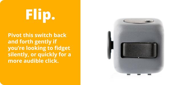 Fidget Cube with light switch-like flip button