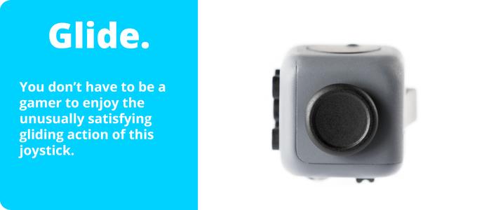 Fidget Cube with glider joystick button shown