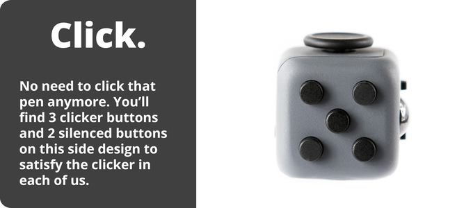 Fidget Cube with clicker buttons