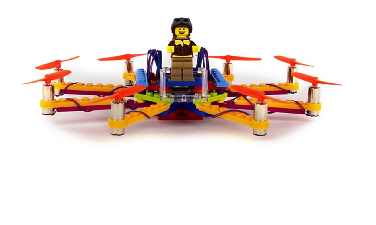 how to build a lego drone